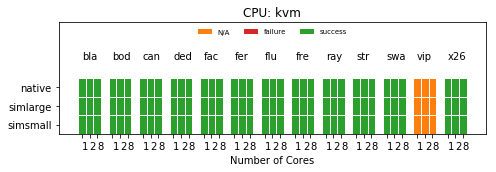 PARSEC Status with KVM CPU